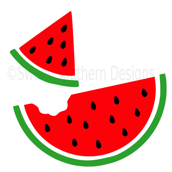 Collection of Watermelon slice clipart.