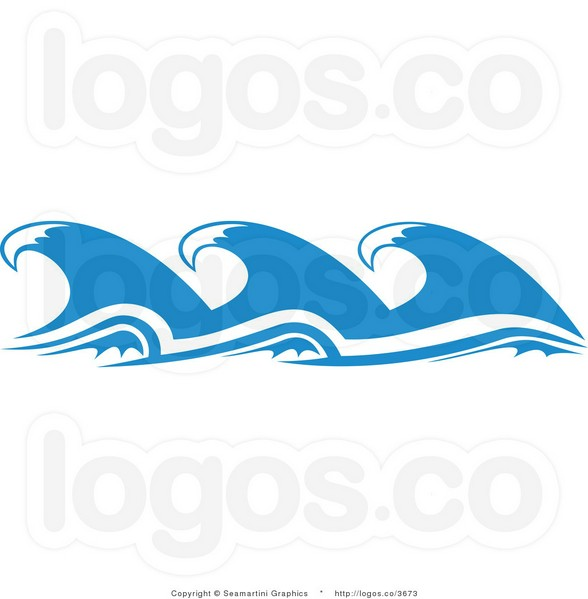 Wave Outline Clip Art Ocean clip art.