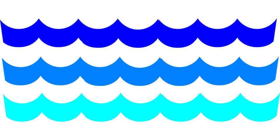 Waves Clip Art Transparent Background.