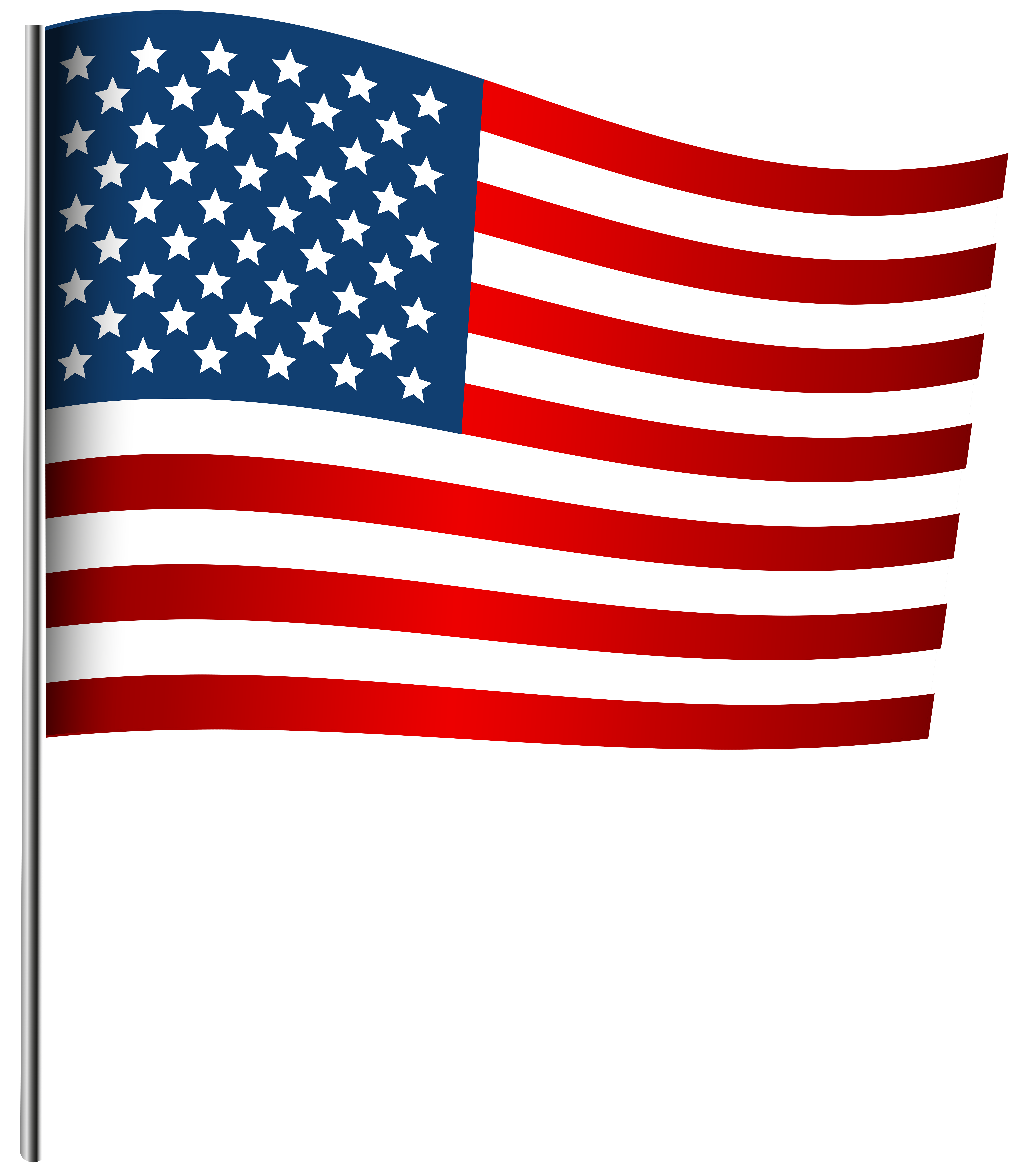 American Waving Flag PNG Clip Art Image.