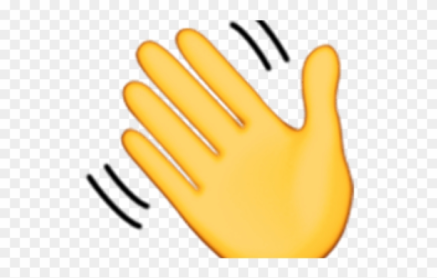 Hand Emoji Clipart Hand Wave.