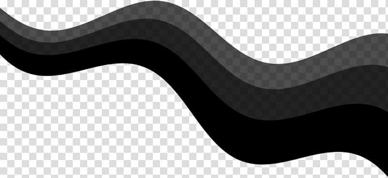 Curves, black and gray wavy line transparent background PNG.