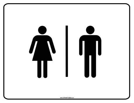 Free Printable Bathroom Signs.