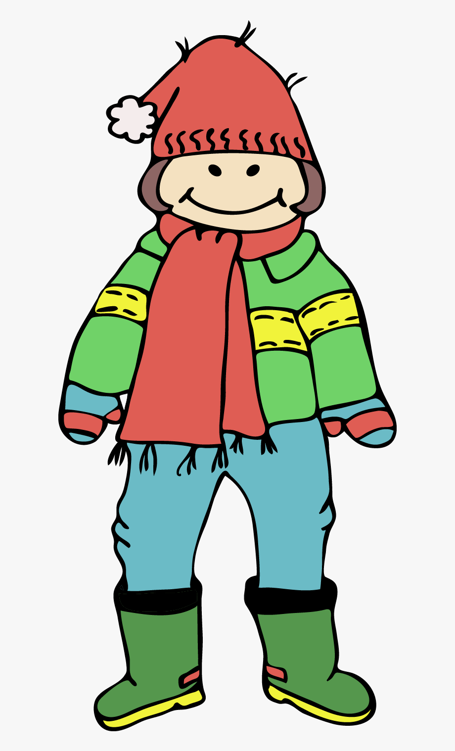 Clip Art Winter Clothes.