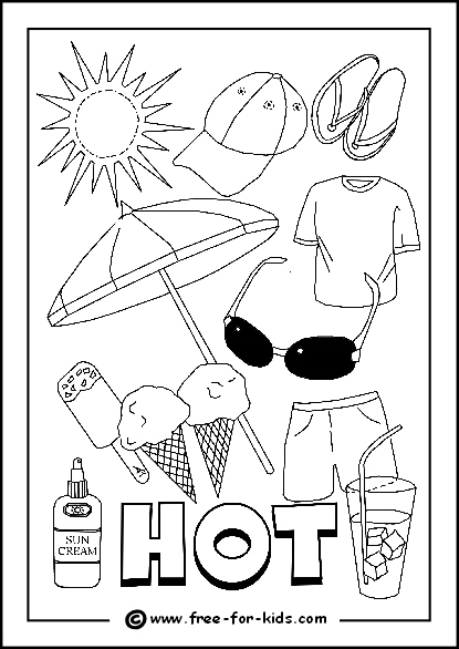 coloring pages for types of weather.