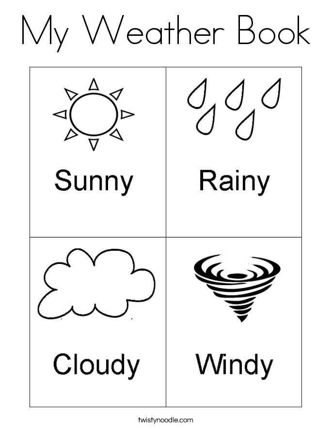My Weather Book Coloring Page.