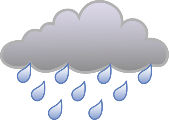 Rain Cloud Weather Symbol.