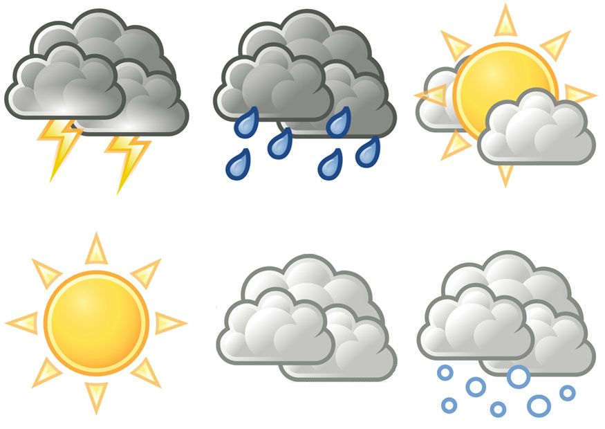 free printable weather symbols.