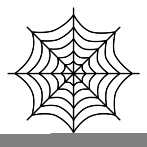 Black And White Spider Web Clipart.