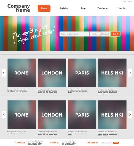 Modern website template for business, vector illustration.