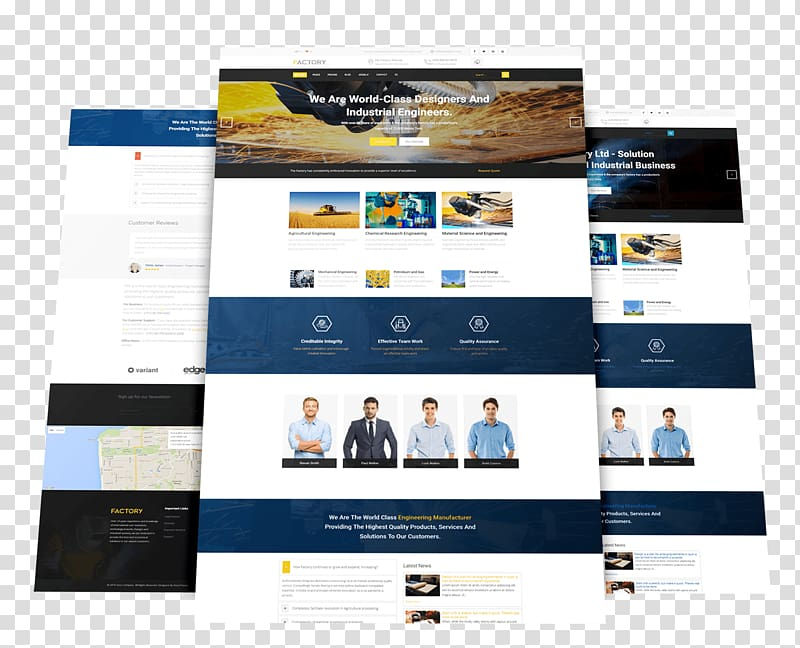 Responsive web design Template Joomla Industry, templates.