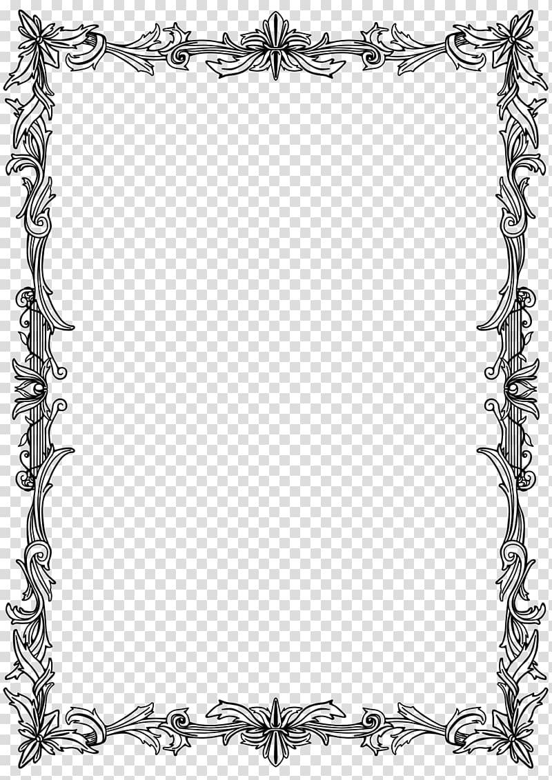 Frames Drawing Parchment Film frame Line art, wedding border.