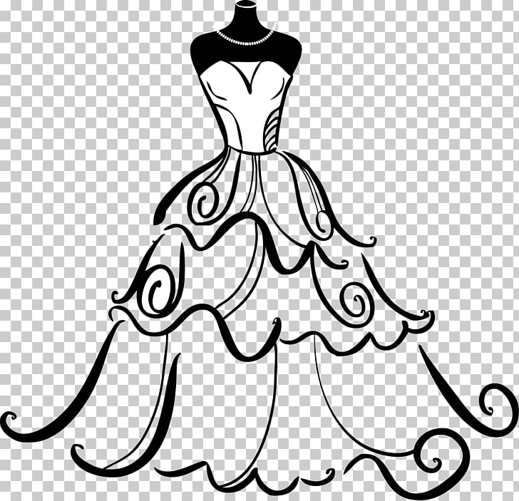 Wedding dress Gown Bride , wedding, white and black straight.