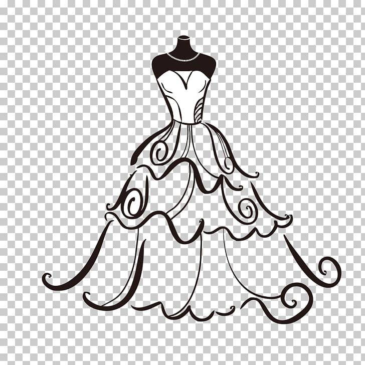 Wedding dress Bride , Wedding Dress, white and black layered.