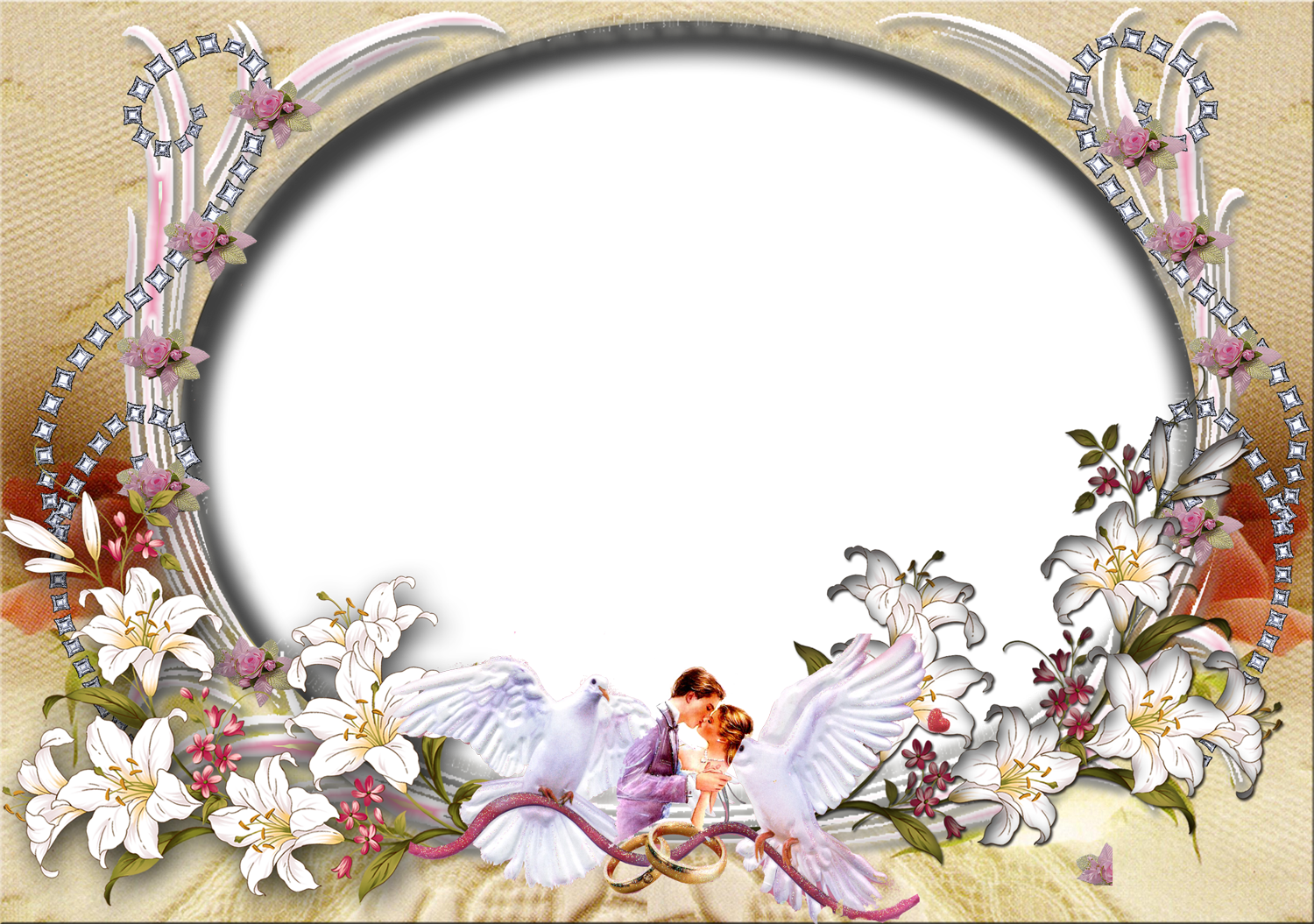 wedding frame background.
