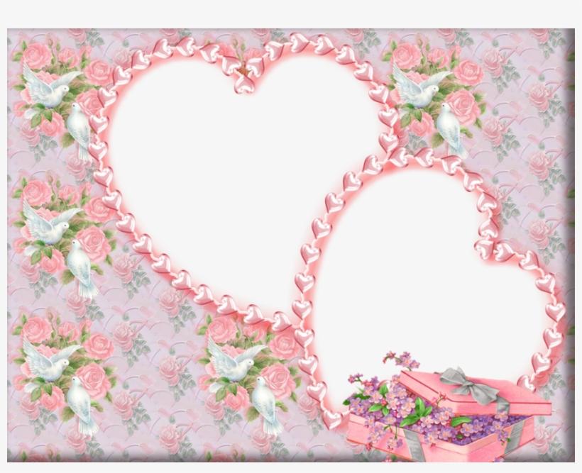Pink Wedding Frame Background Clipart Wedding Invitation.