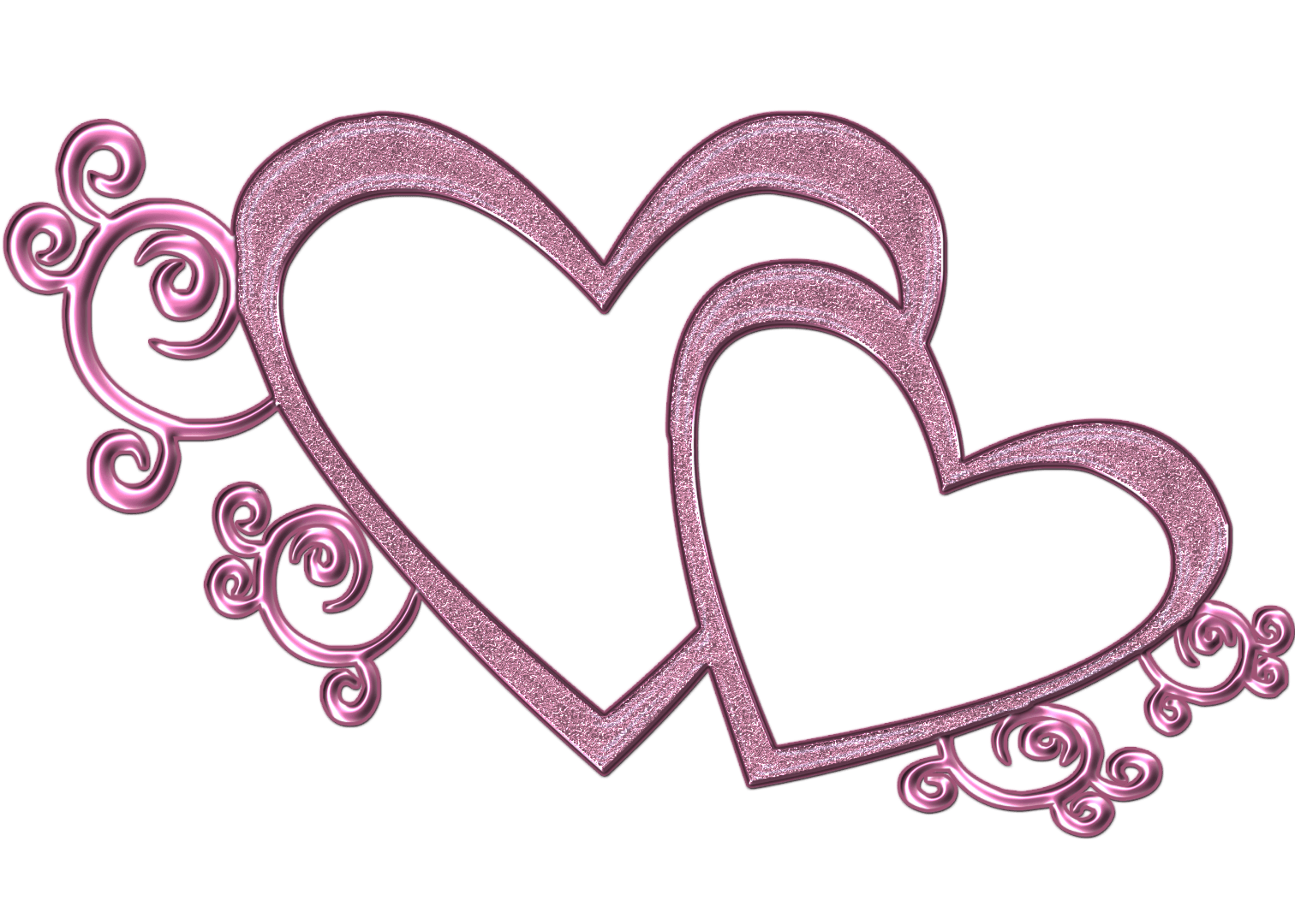 Wedding heart design clipart.