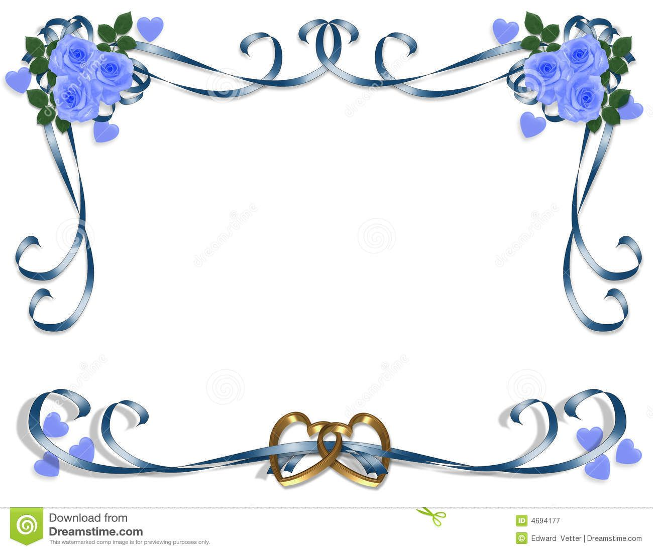 Blue Wedding Borders Clipart #1.
