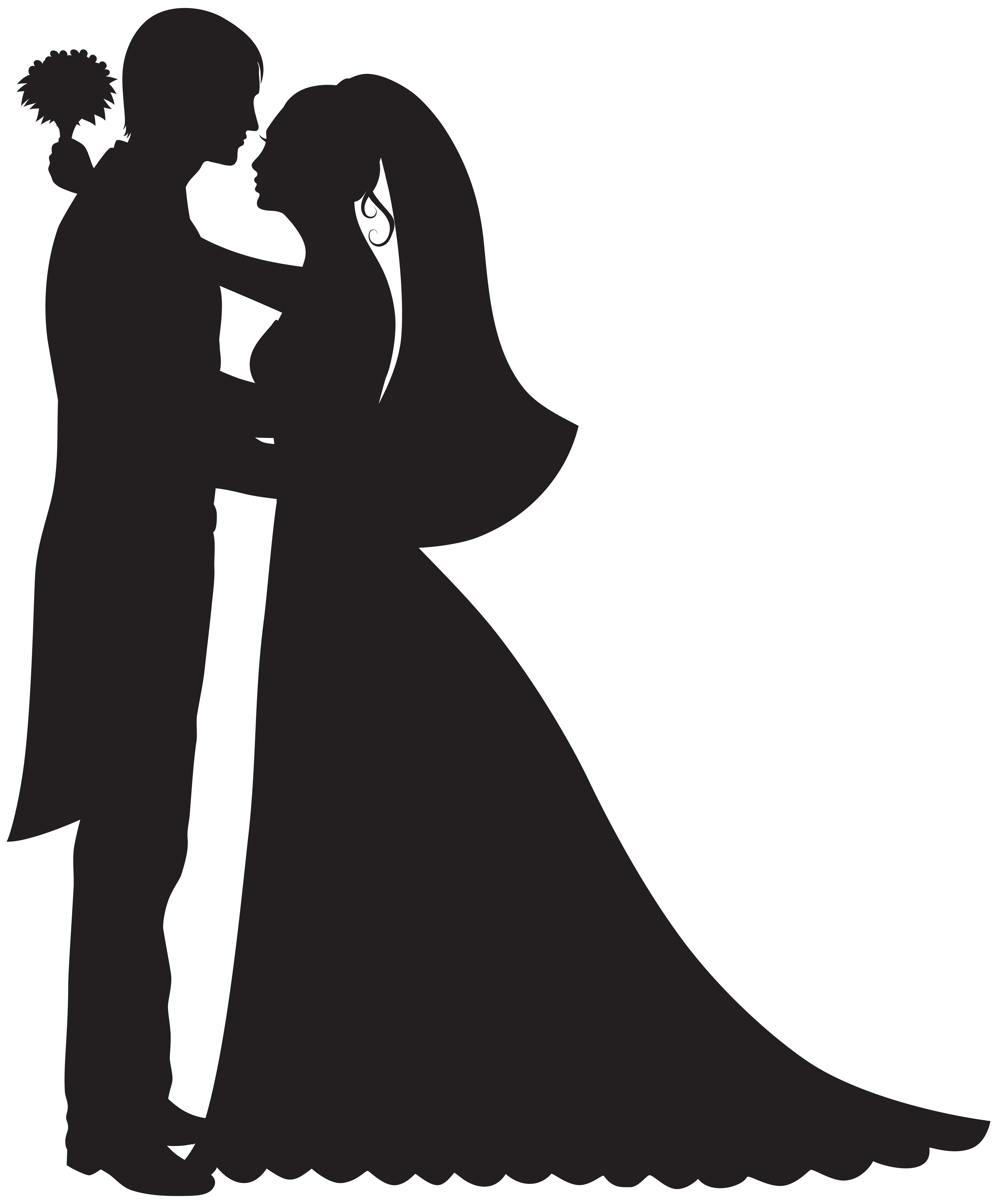 Groom and Bride PNG Clip Art.