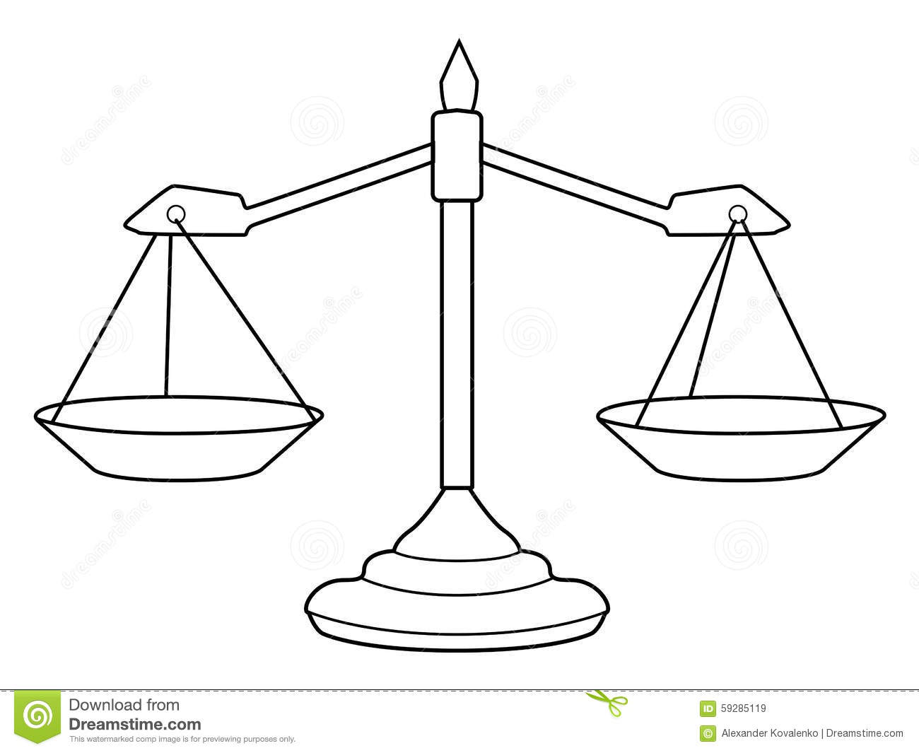 Scales Of Justice Stock Illustration.