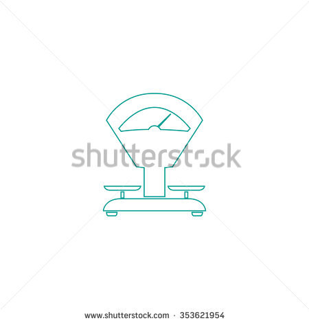 Weight Scale Outline Black Simple Vector Stock Vector 307078310.