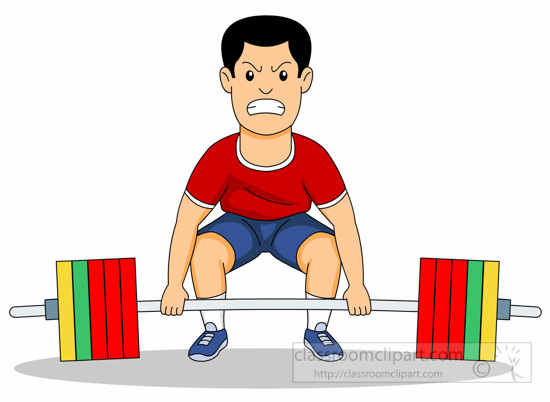 Man Lifts Weights For Strength Training Clipart » Clipart.
