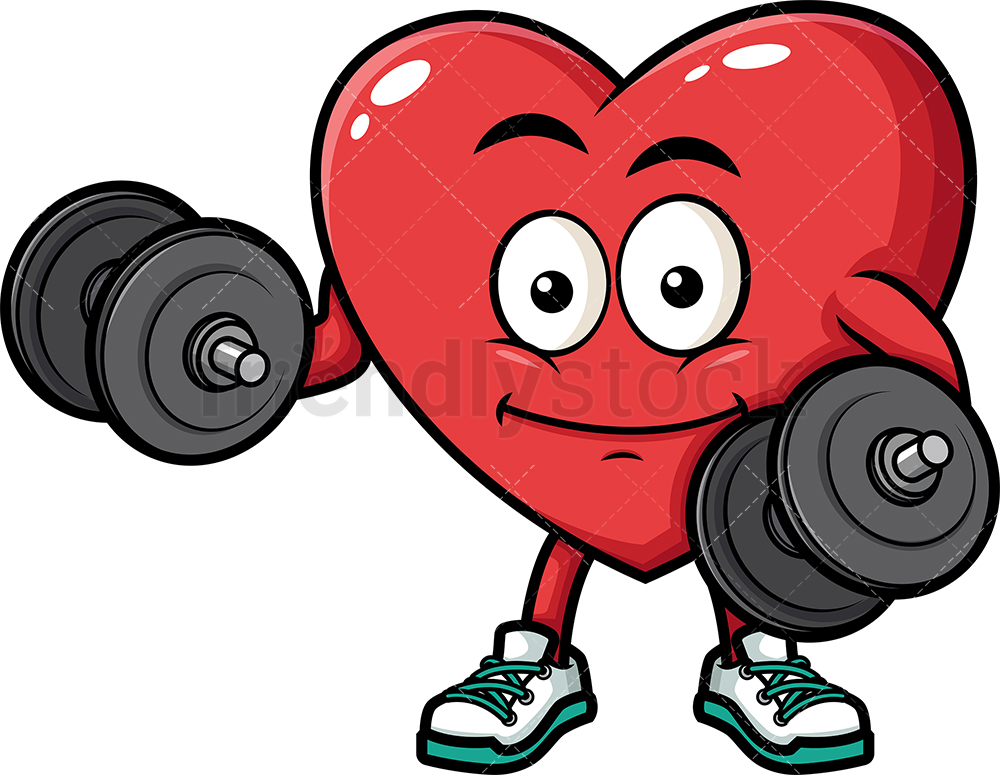 Heart Lifting Weights.