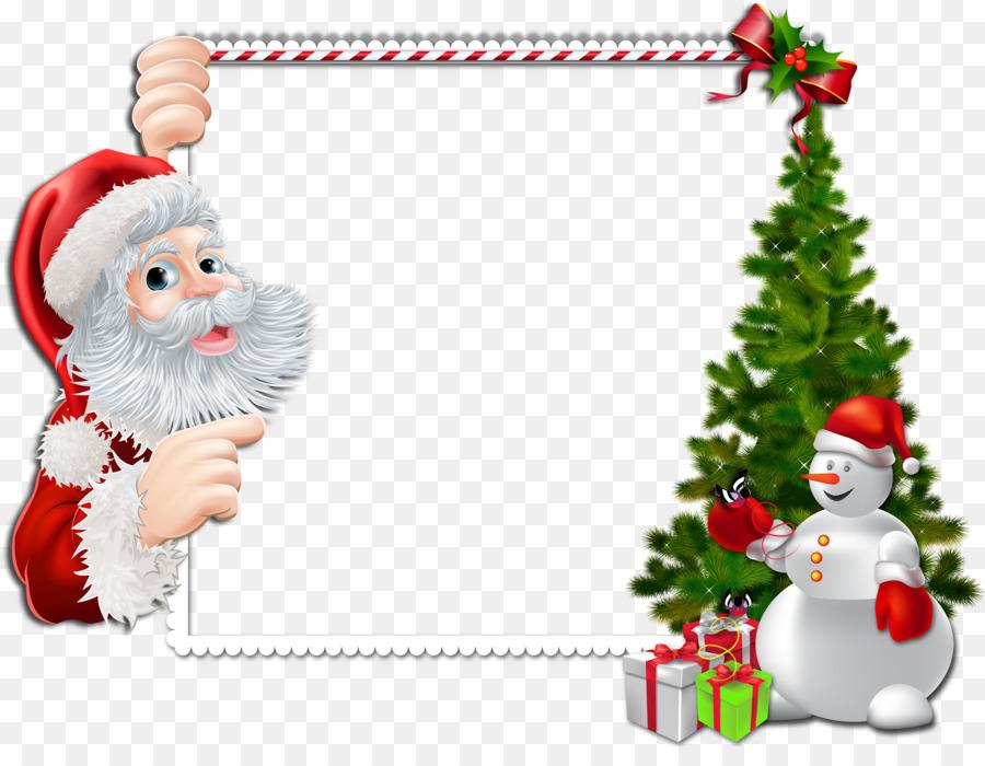 Santa Claus Grenzen und Frames Weihnachten Bilderrahmen Clip.