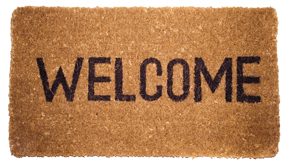 Welcome Home Mat Clipart.