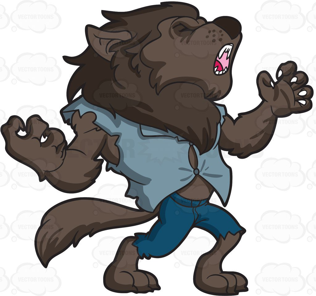 Werewolf clipart 6 » Clipart Station.