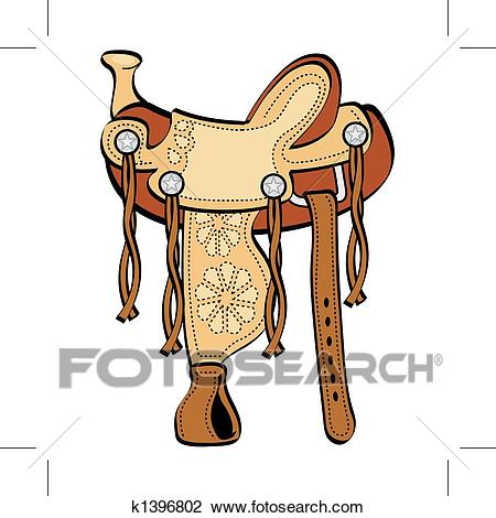 Western Horse Saddle Clip Art Clipart.