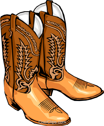 Cowboy boots Royalty Free Vector Clip Art illustration.