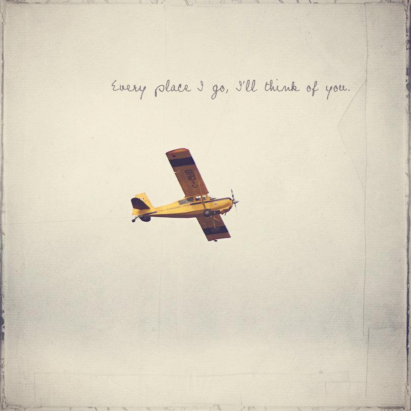 Yellow Plane, Yellow Airplane, Boy's Room Decor, Piper J.