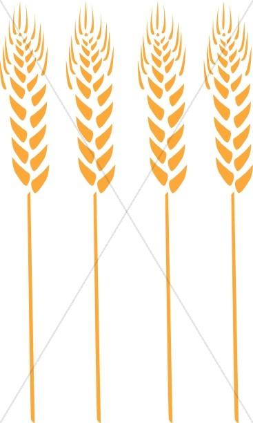 Four Wheat Stalks.