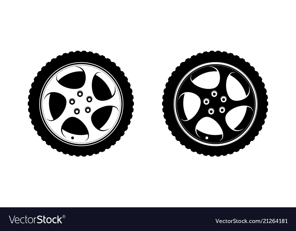Wheel clipart in white and black disks.