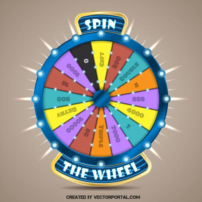 Wheel of fortune vector clip art.
