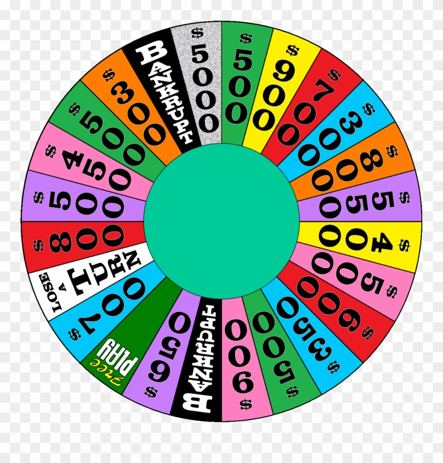 Wheel Of Fortune Png Clipart (#1613670).