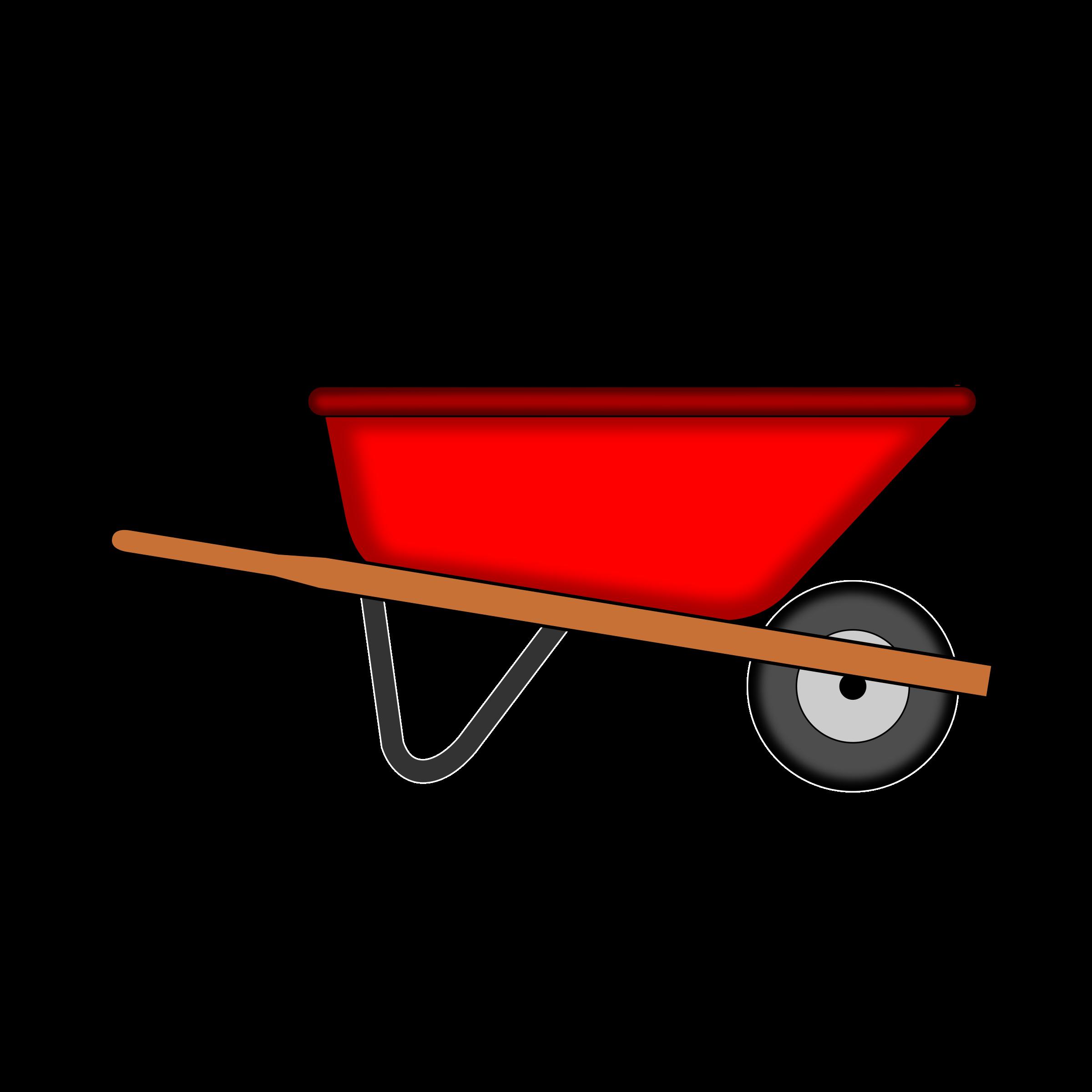 203 Wheelbarrow free clipart.
