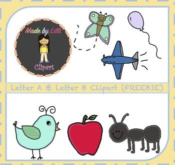 FREE Alphabet Letter A & Letter B Clipart {Alphabet Clipart}.