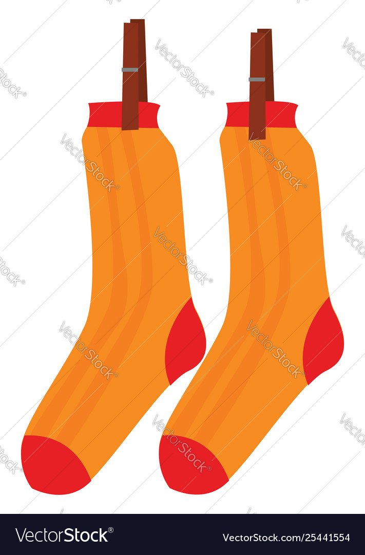 Clipart pair socks hanging while.