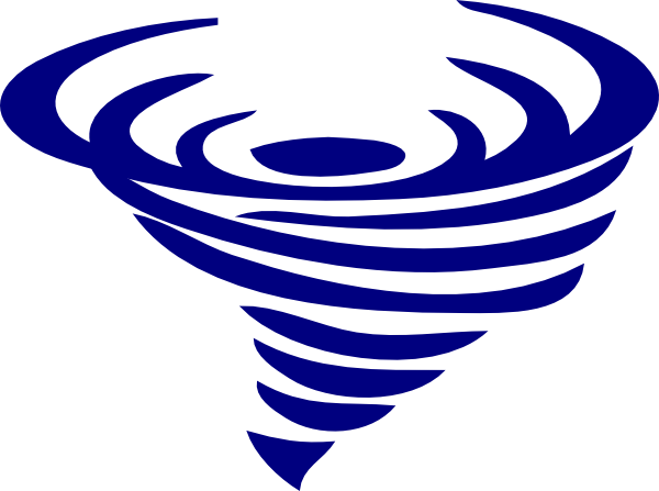 Blue Spinning Whirlwind Clip Art.