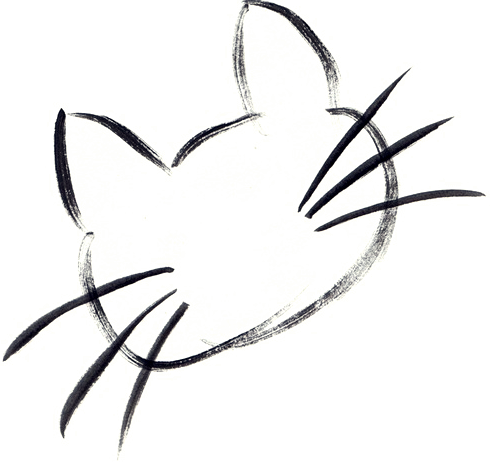 Cat Whiskers Clipart image.