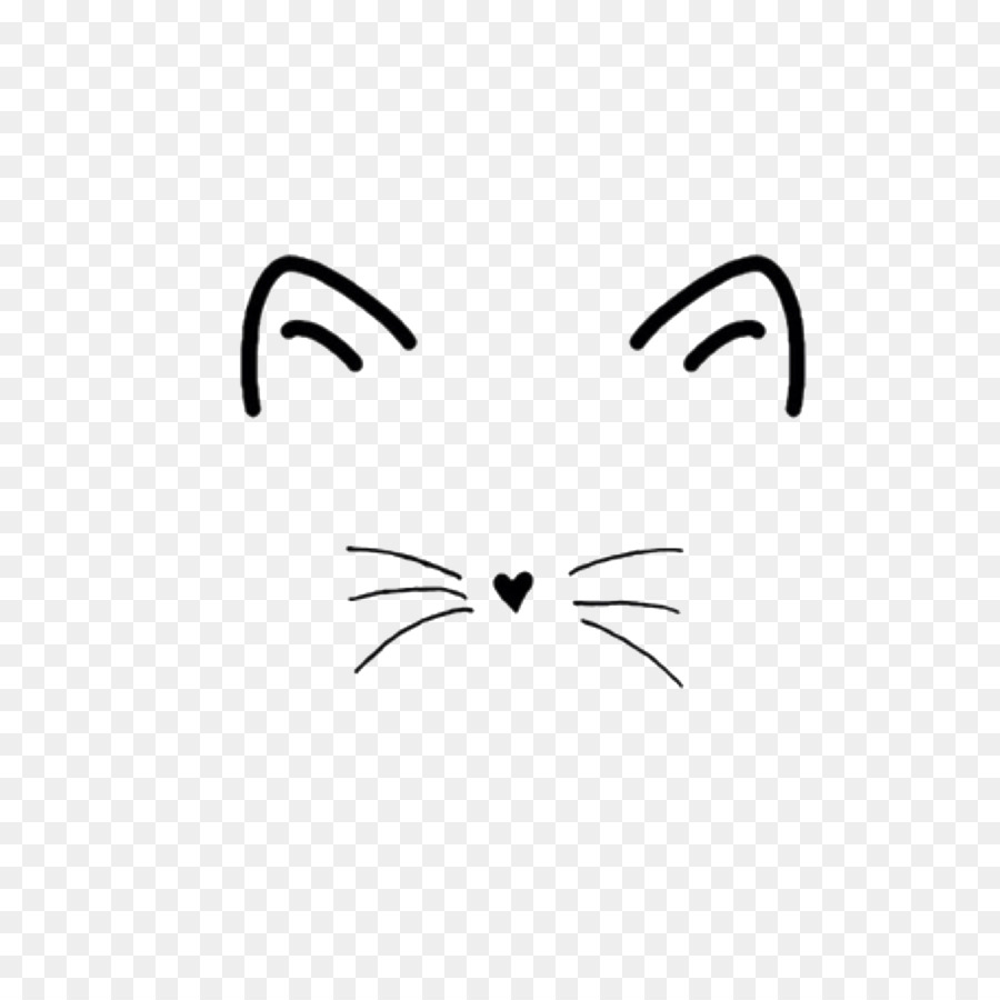 Cat Nose And Whiskers Clipart.