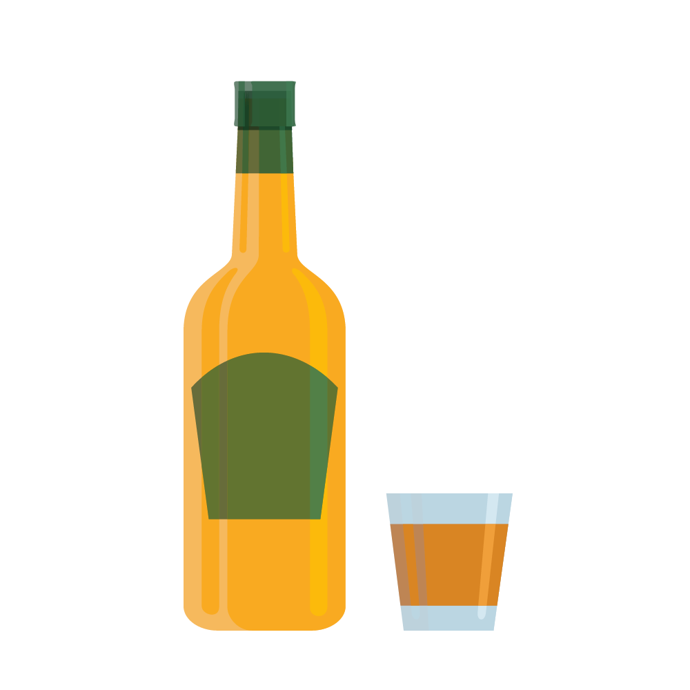 Whisky Vodka Wine Cocktail Liqueur.