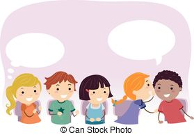 Chinese whispers Clip Art Vector and Illustration. 5 Chinese.