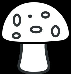 Black And White Mushroom Clip Art at Clker.com.