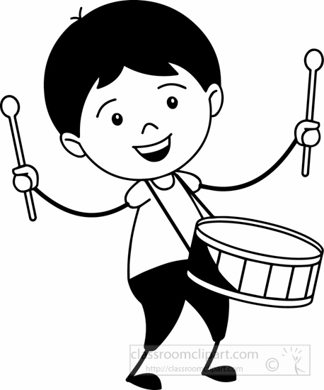 Black And White Boy Playing Clipart.