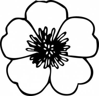 Free Black And White Flowers Clipart, Download Free Clip Art, Free ...