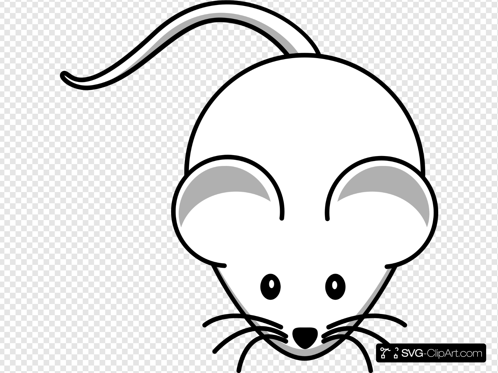 White Mouse Clip art, Icon and SVG.