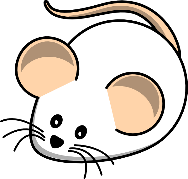 White mouse clipart.